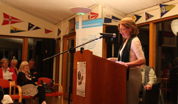 Catherine Phil MacCarthy reading at the 2011 Dromineer Poetry Festival